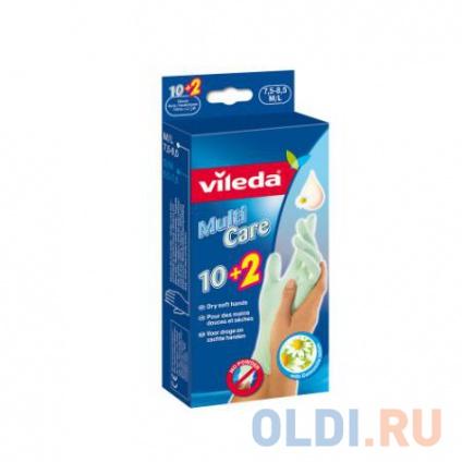 Фото «ВИЛЕДА Перчатки одноразовые с бальзамом 10 2 шт М/L» в Москве