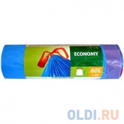 Фото «PACLAN Мешки для мусора с завязками ЭКОНОМ 60л 15шт» в Москве