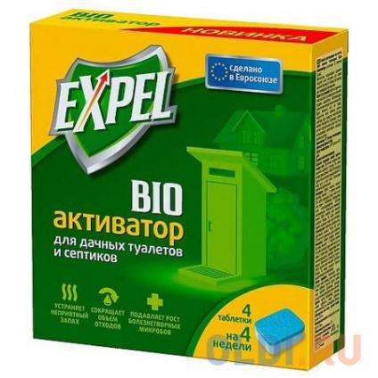 Фото «EXPEL Биоактиватор для дачных туалетов и септиков 4 таблетки в упаковке» в Москве