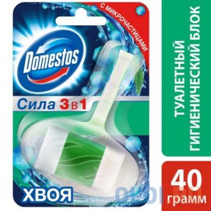 Фото «DOMESTOS Гигиенический блок для унитаза Хвоя 40г» в Москве