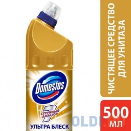Фото «DOMESTOS Средство чистящее для унитаза Ультра блеск 500мл» в Москве