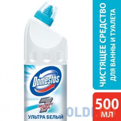 Фото «DOMESTOS Средство чистящее для унитаза Ультра Белый 500мл» в Москве