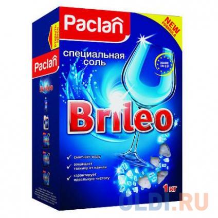 Фото «Paclan Brileo Соль специальная для посудомоченых машин 1кг» в Москве