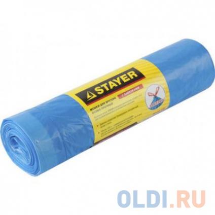 Фото «Пакеты для мусора Stayer Comfort завязками 30л 20шт голубой 39155-30» в Москве