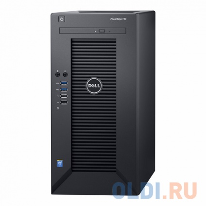 Фото «Сервер Dell PowerEdge T30 E3-1225v5, 8GB DDR4, 2x250GB SSD SATA +1TB SATA 7.2k HDD, Intel RSC, DVDRW, 1GbE, AMT11, Tower, 1Y NBD» в Екатеринбурге
