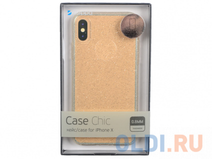 Фото «Чехол Deppa 85340 Chic Case для Apple iPhone X, золотой» в Екатеринбурге