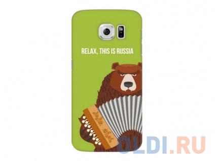 Фото «Чехол-накладка для Samsung Galaxy S6 Deppa Art Case Медведь гармонь» в Москве