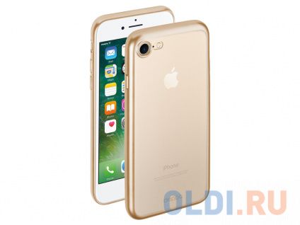 Фото «Чехол Deppa Gel Plus Case матовый для Apple iPhone 7/8, золотой» в Новосибирске