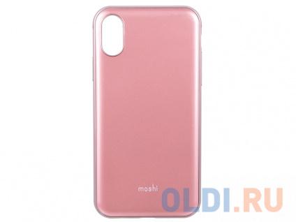 Фото «Чехол Moshi iGlaze для iPhone X. Сделан из ударопрочного пластика. Цвет: розовый.» в Москве
