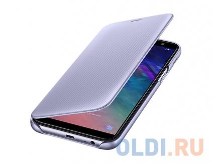 Фото «Чехол-книжка для Samsung Galaxy A6 2018 Samsung Wallet Cover Purple» в Санкт-Петербурге
