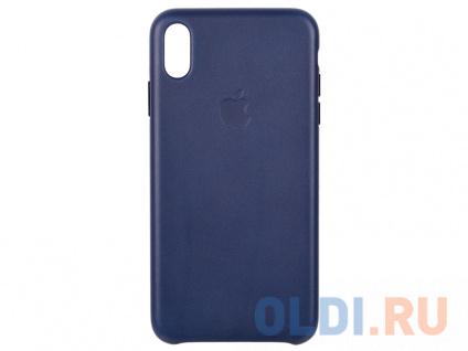 Фото «Чехол-накладка для iPhone XS Max Apple Leather Case MRWU2ZM/A Midnight Blue» в Екатеринбурге