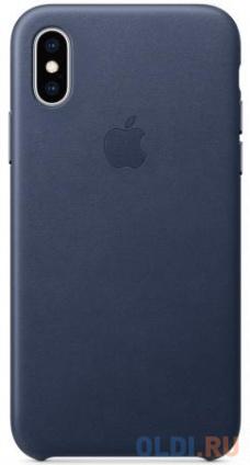 Фото «Чехол-накладка для iPhone XS Apple Leather Case Dark Blue» в Москве