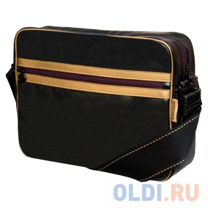 """Фото «Сумка для ноутбука Continent CC-065 до 15,5"""" (Black/Gold, искуственная кожа, черный, 40 х 28 х 10 см.)» в Москве"""
