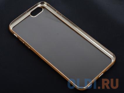 Фото «Силиконовый чехол с рамкой для iPhone 6 Plus/6S Plus DF iCase-03 (gold)» в Москве