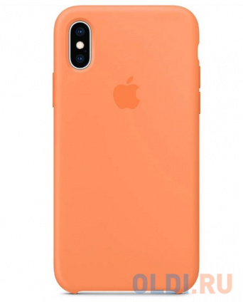 Фото «Силиконовый чехол Apple Silicone Case MVF22ZM/A для iPhone XS - Papaya» в Санкт-Петербурге