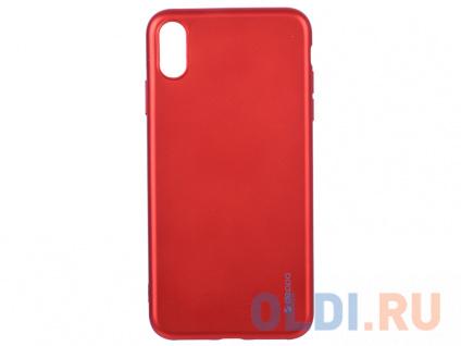 Фото «Чехол Deppa Case Silk для Apple iPhone XS Max, красный металлик» в Нижнем Новгороде
