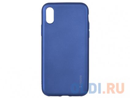Фото «Чехол Deppa Case Silk для Apple iPhone X/XS, синий металлик» в Новосибирске