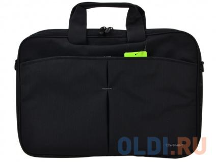 """Фото «Сумка для ноутбука Continent CC-012 Black 15.6"""" (Черный, нейлон/полиэстер, 42 x 30 x 5 см.)» в Новосибирске"""