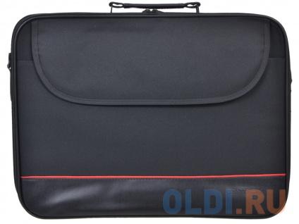 """Фото «Сумка для ноутбука Continent CC-100 BK до 15,6"""" (черный, полиэстр, 42 x 31,5x 7 см.)» в Москве"""