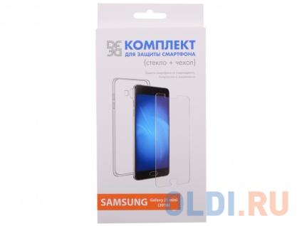 Фото «Закаленное стекло и чехол-накладка для Samsung Galaxy J1 mini (2016) DF sKit-02» в Новосибирске