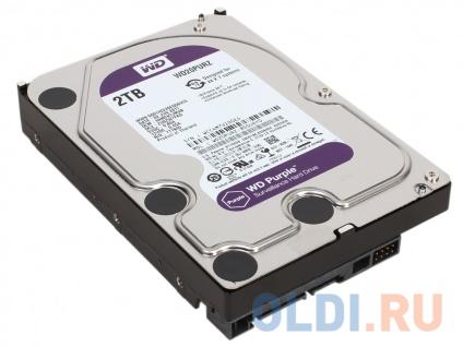 Фото «Жесткий диск 2Tb Western Digital WD Purple WD20PURZ, SATA III 5400RPM, 64Mb» в Новосибирске