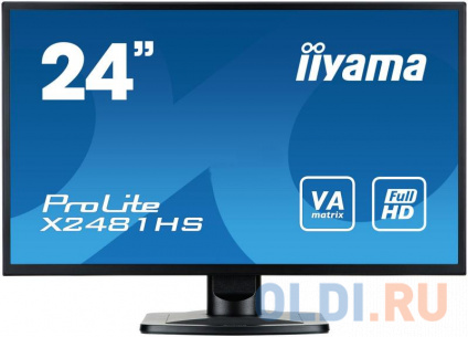 "Фото «Монитор 23.6"" iiYama Pro Lite X2481HS-B1 черный VA 1920x1080 250 cd/m^2 6 ms DVI HDMI VGA Аудио» в Москве"