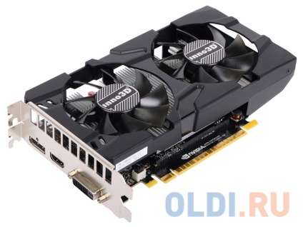 Фото «Видеокарта Inno3D GeForce GTX 1050 Twin X2 N1050-1DDV-E5CM 2Gb 1354Mhz» в Москве